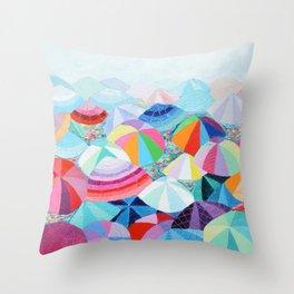 Seaside Summer Throw Pillow