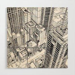 City view Wood Wall Art