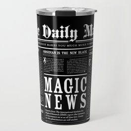The Daily Mage Fantasy Newspaper II Travel Mug