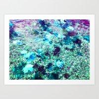 Turquoise Poise Art Print