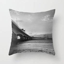 Severn Crossing 04 - Severn Beach Throw Pillow