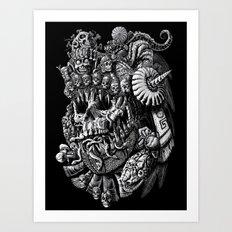 Mictlantecuhtli Art Print