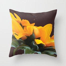 Sunflower Power-Up Throw Pillow