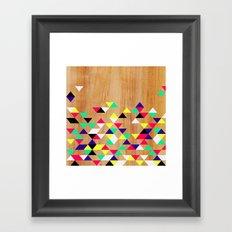 Geometric Polygons Arbutus Framed Art Print