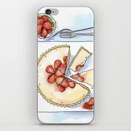 Strawberry Cheesecake Tart iPhone Skin