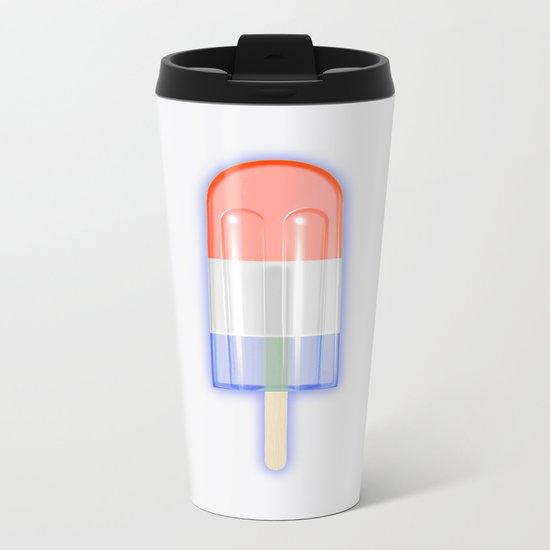 Patriotic Popsicle Metal Travel Mug