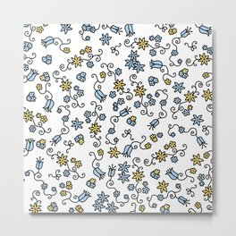 Mille Fleurs Metal Print