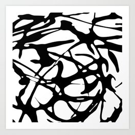 Black and White Abstract Painting II Art Print
