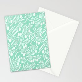 Mint Olive Branches Stationery Cards