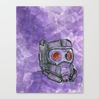 star lord Canvas Prints featuring Star-Lord by MTDesignsArt