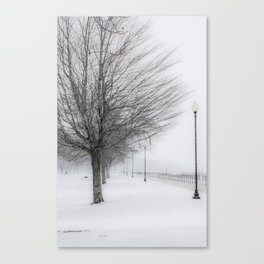 Charlotte Beach, Rochester, NY....in winter Canvas Print