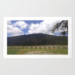 Lassen Mountains Art Print