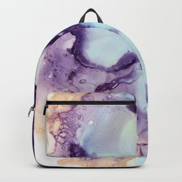Abstract in purple and light blue Backpack