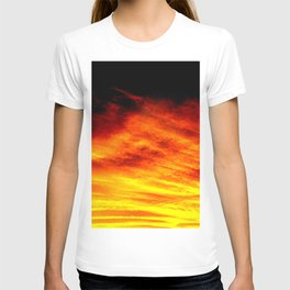 Black Yellow Red Sunset T-shirt