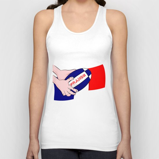 France Rugby Ball Flag Unisex Tank Top