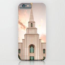 Kansas City LDS Temple 1 iPhone Case