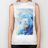 surfer Biker Tanks featuring Surfer by Jose Luis Ocana