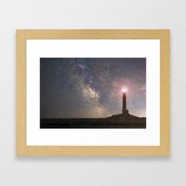 Milkyway over Thacher Island Framed Art Print