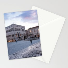 View of Piazza IV Novembre, Perugia, Umbria, Italy Stationery Cards