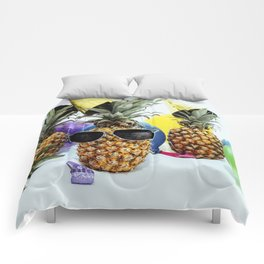 Pineapple Party Time Comforters