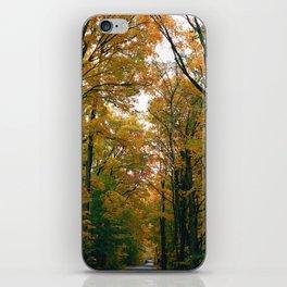 Dark Road through the Forest - 35mm film iPhone Skin