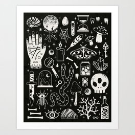 Curiosities: Bone Black Art Print