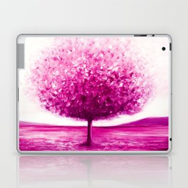 Pink tree landscape Laptop & iPad Skin