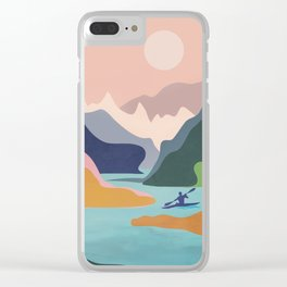 River Canyon Kayaking Clear iPhone Case