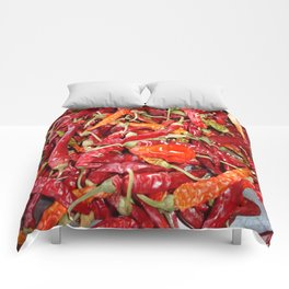 Sundried Chili Peppers Comforters