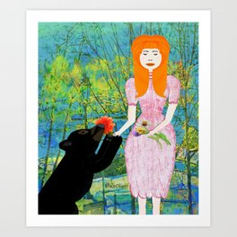 LET ME SNIFF Art Print