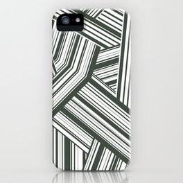 Abstract Crossing Stripes Pattern iPhone Case