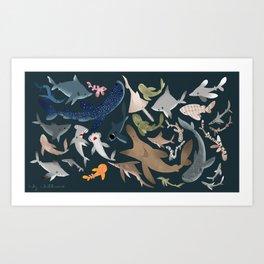 "FINconceivable Still ""Sharks"" Art Print"