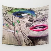 newspaper Wall Tapestries featuring NewsPaper  by cchelle135