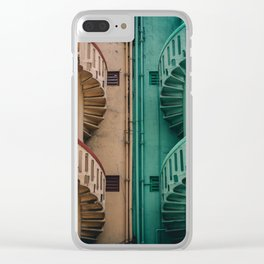 Symmetrical Staircases Clear iPhone Case