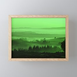 My road, my way. Green. Framed Mini Art Print