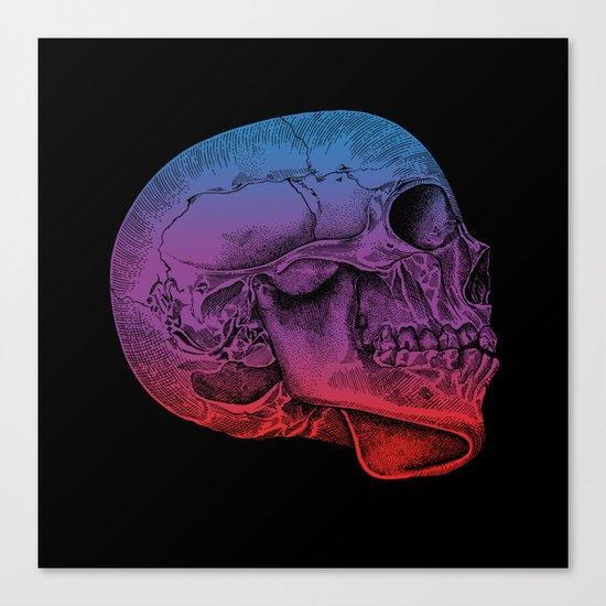 Rainbow Skull Joy Canvas Print