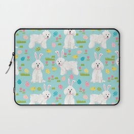 Bichon Frise dog breed pet portrait custom dog art easter spring dog costume Laptop Sleeve