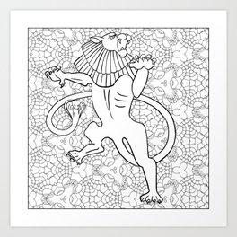Chimera Greek Mythological Creature Art Print