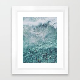 lets surf xx Framed Art Print