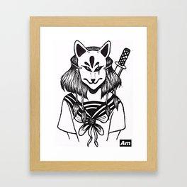 Kitsune Warrior Framed Art Print