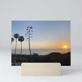 Palm Trees at Scripps Pier - 2 Mini Art Print