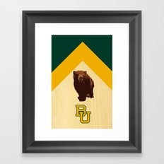Baylor University - BU logo with bear Framed Art Print