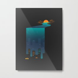 Nature & City Metal Print