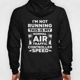 Air Traffic Controller Running ATC Flight Control design Hoody