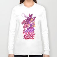 fnaf Long Sleeve T-shirts featuring Five Nights at Freddy's by Camille Dion-Bolduc