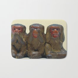 Three Wise Monkeys Bath Mat