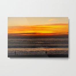 Sunset at Fonte da Telha, Portugal Metal Print