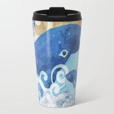 Sandcastle Waves Whales Travel Mug