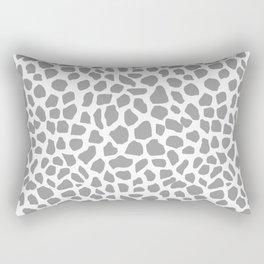 Animal print spots dot dots pattern minimal grey and white basic nursery art Rectangular Pillow