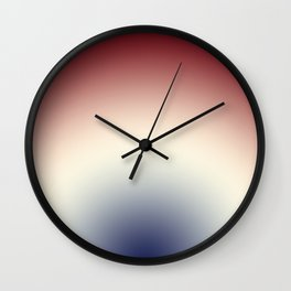 Radical Red White Blue Wall Clock